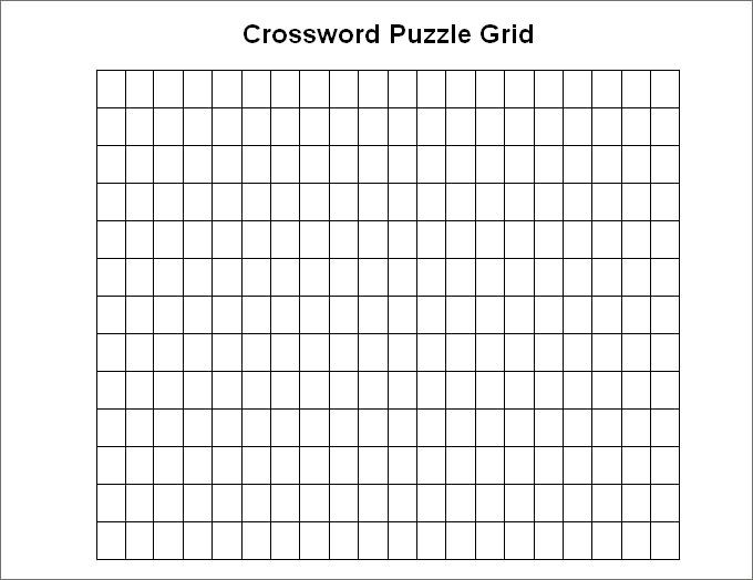 Free Printable Blank Crossword Grid