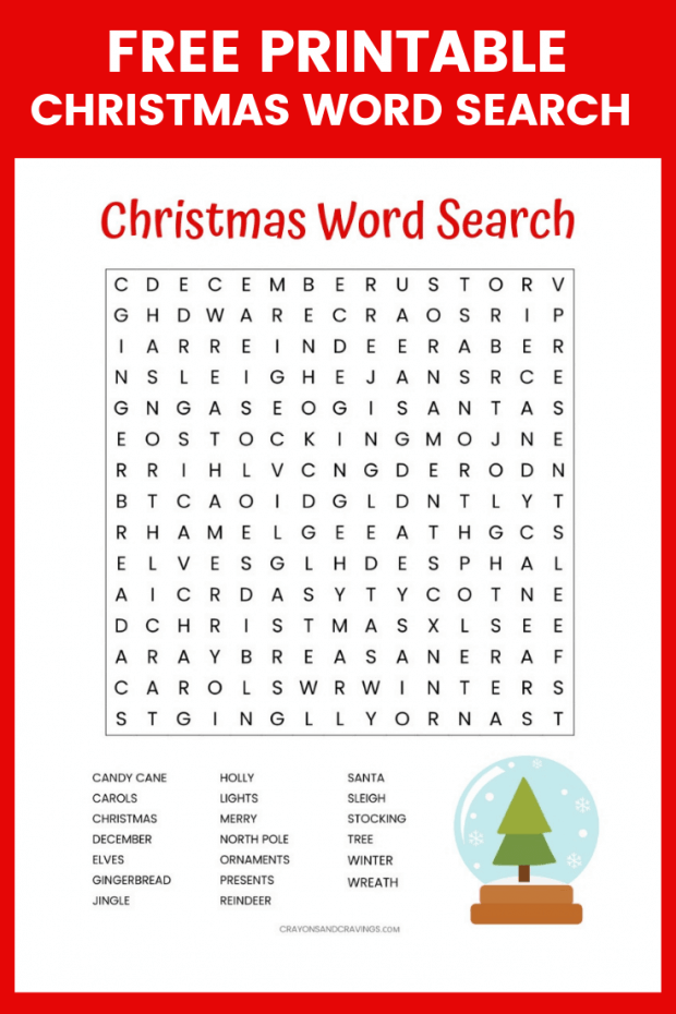 Free Holiday Word Search Puzzles Printables