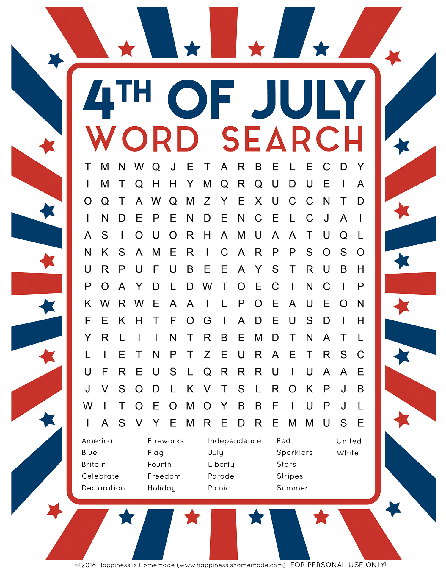 Free Printable 4th Of July Puzzles