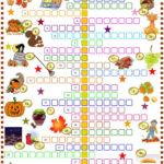 Autumn Crossword Puzzle With Key English ESL