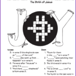 Birth Of Jesus Christmas Crossword Kids Korner