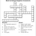 Create Your Own Crossword Puzzle Printable Printable