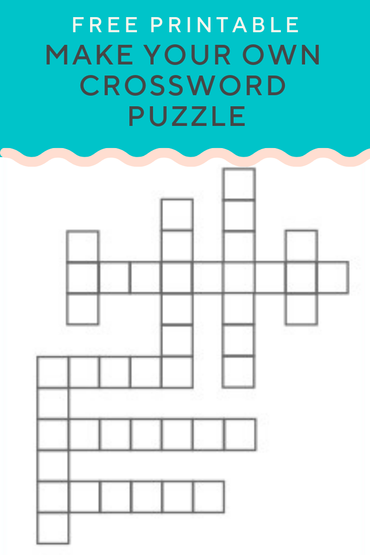 Create Your Own Crossword Puzzle Free Printable