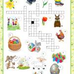 Crosswords Easter Worksheet Free ESL Printable