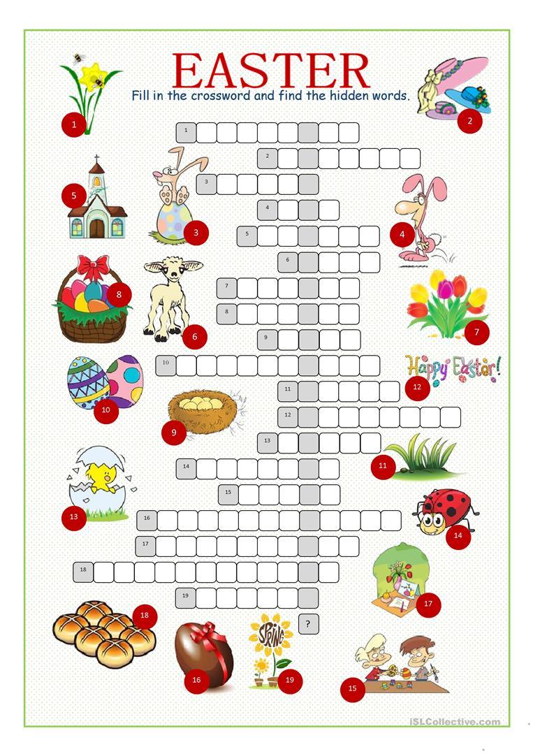 Easter Crossword Free Printable