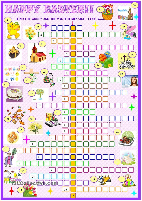 Easter Crosswords Printable Free