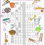Household Items Crossword Puzzle Worksheet Free ESL