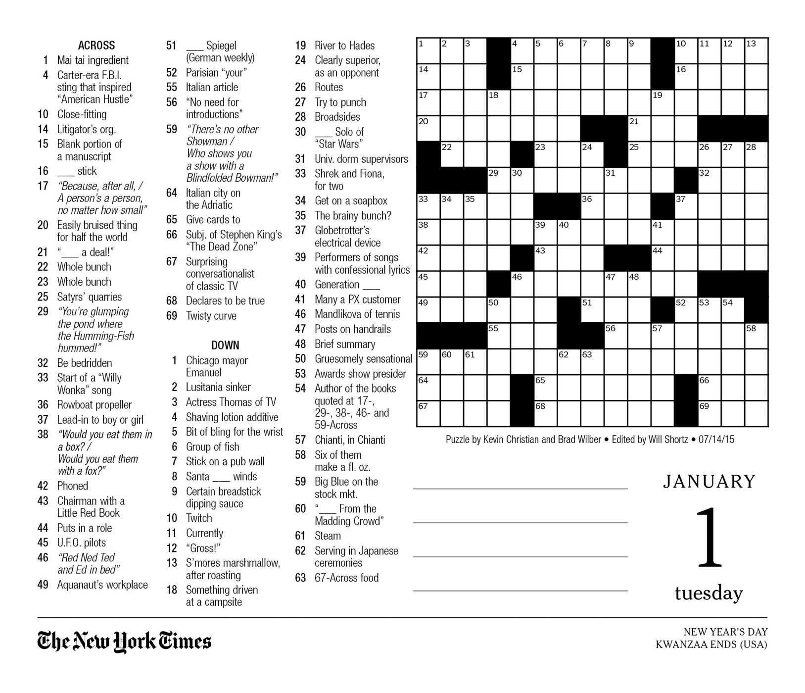 New York Times Crosswords Free Printable
