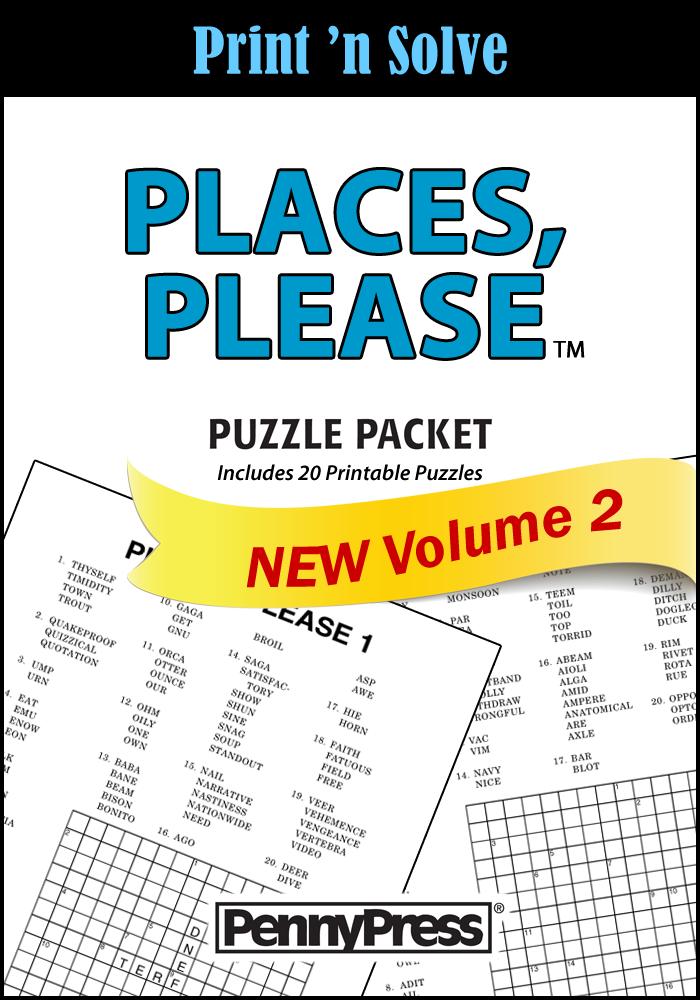 Free Places Please Puzzles Printable