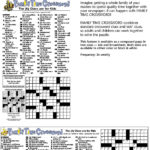 Printable Crossword Puzzles Timothy Parker Printable