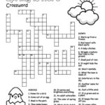 Spring Crossword Puzzle Worksheet By Puzzles To Print TpT
