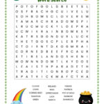 St Patrick S Day Word Search Free Printable Worksheet