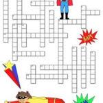 Superheroes Back To School Crossword Puzzle Superhero