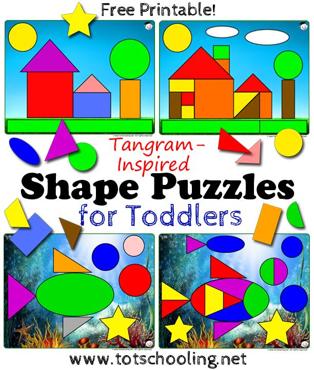 Free Printable Shape Puzzles