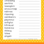 This FREE Printable Thanksgiving Word Scramble Puzzle Is A
