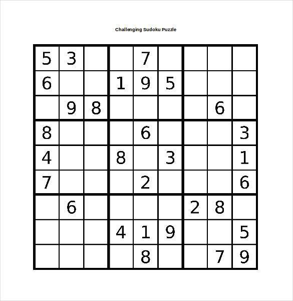 Sudoku Word Puzzles Printable