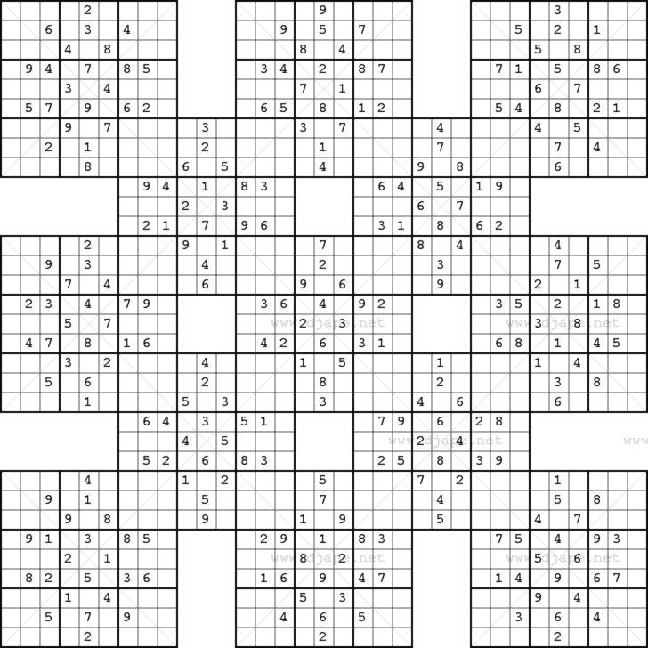 Giant Sudoku Printable