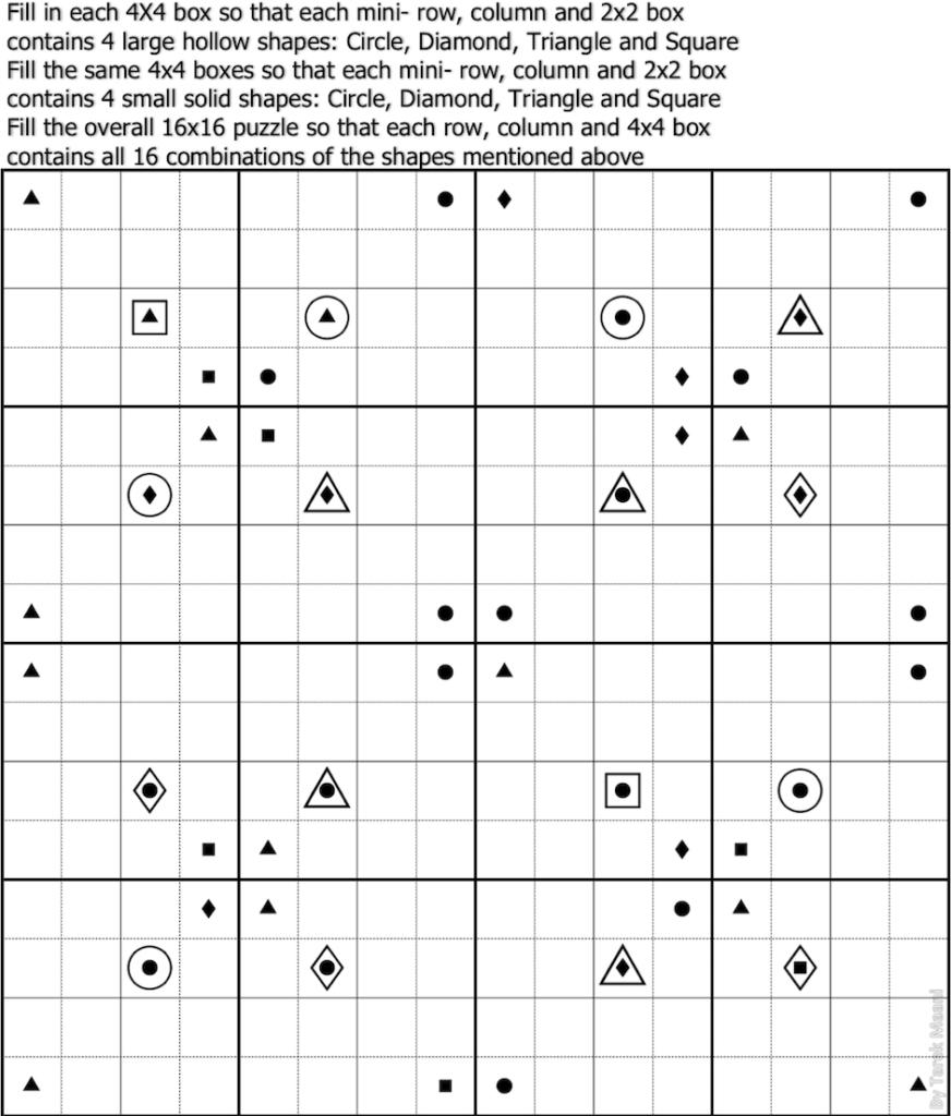 2X2 Sudoku Printable Printable Template Free