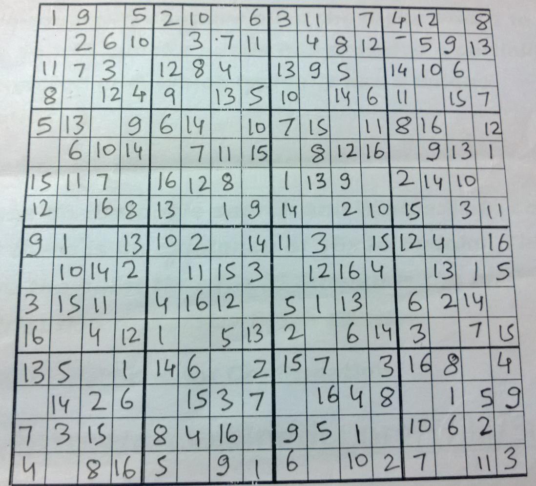36x36 Sudoku Printable