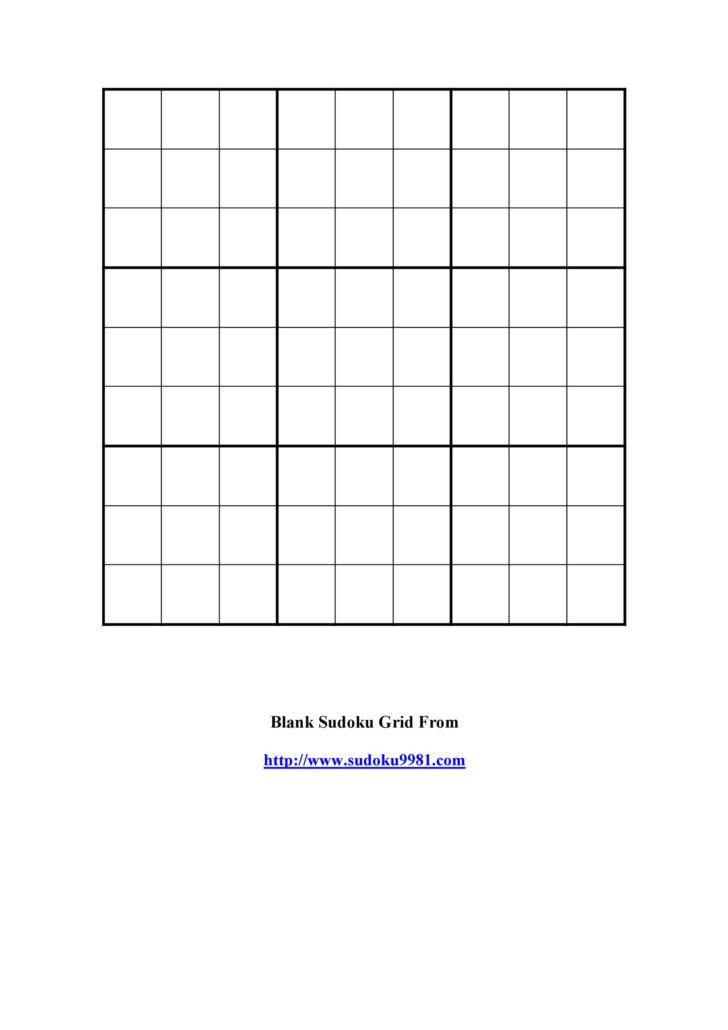 36×36 Sudoku Printable