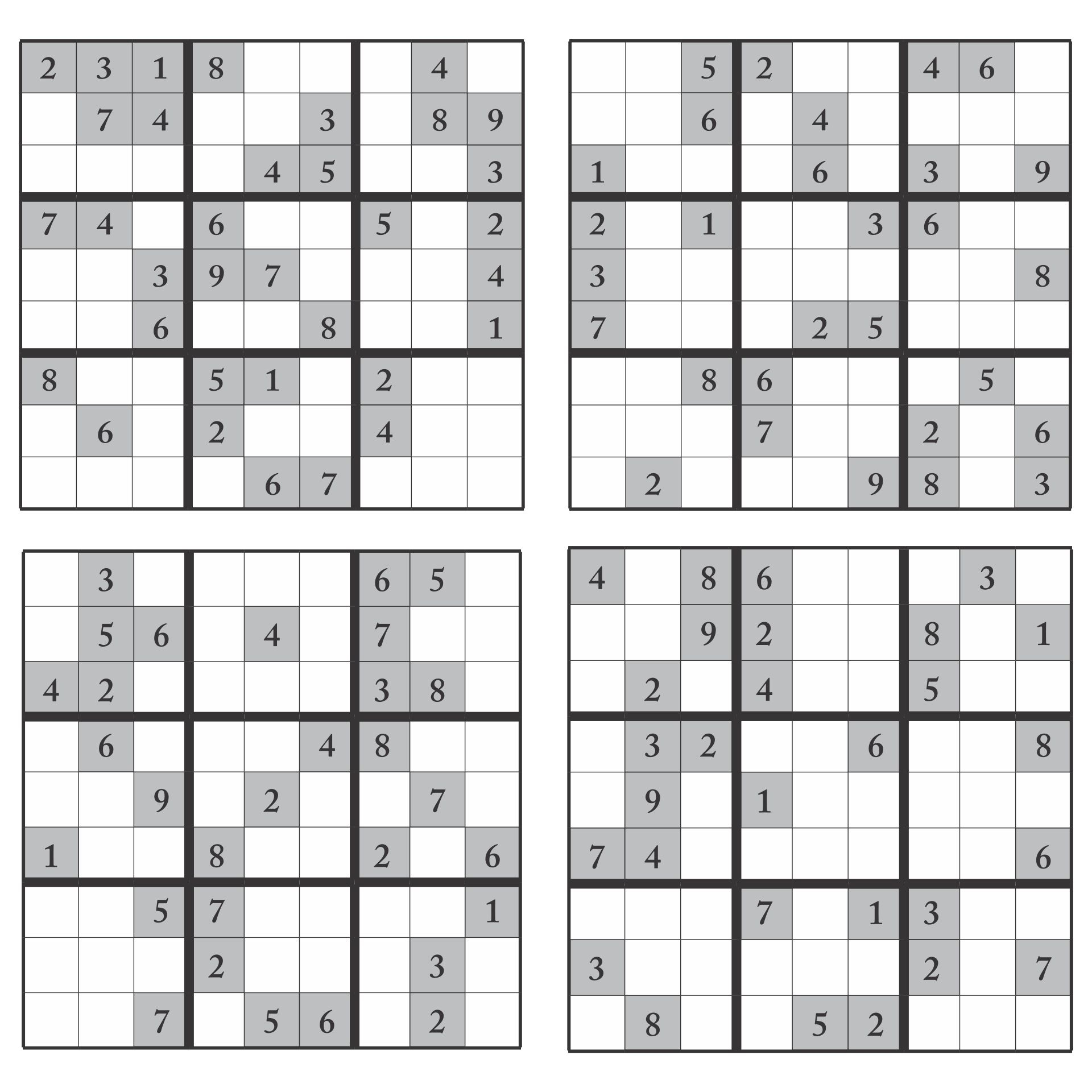 Sudoku 16x16 Printable Free