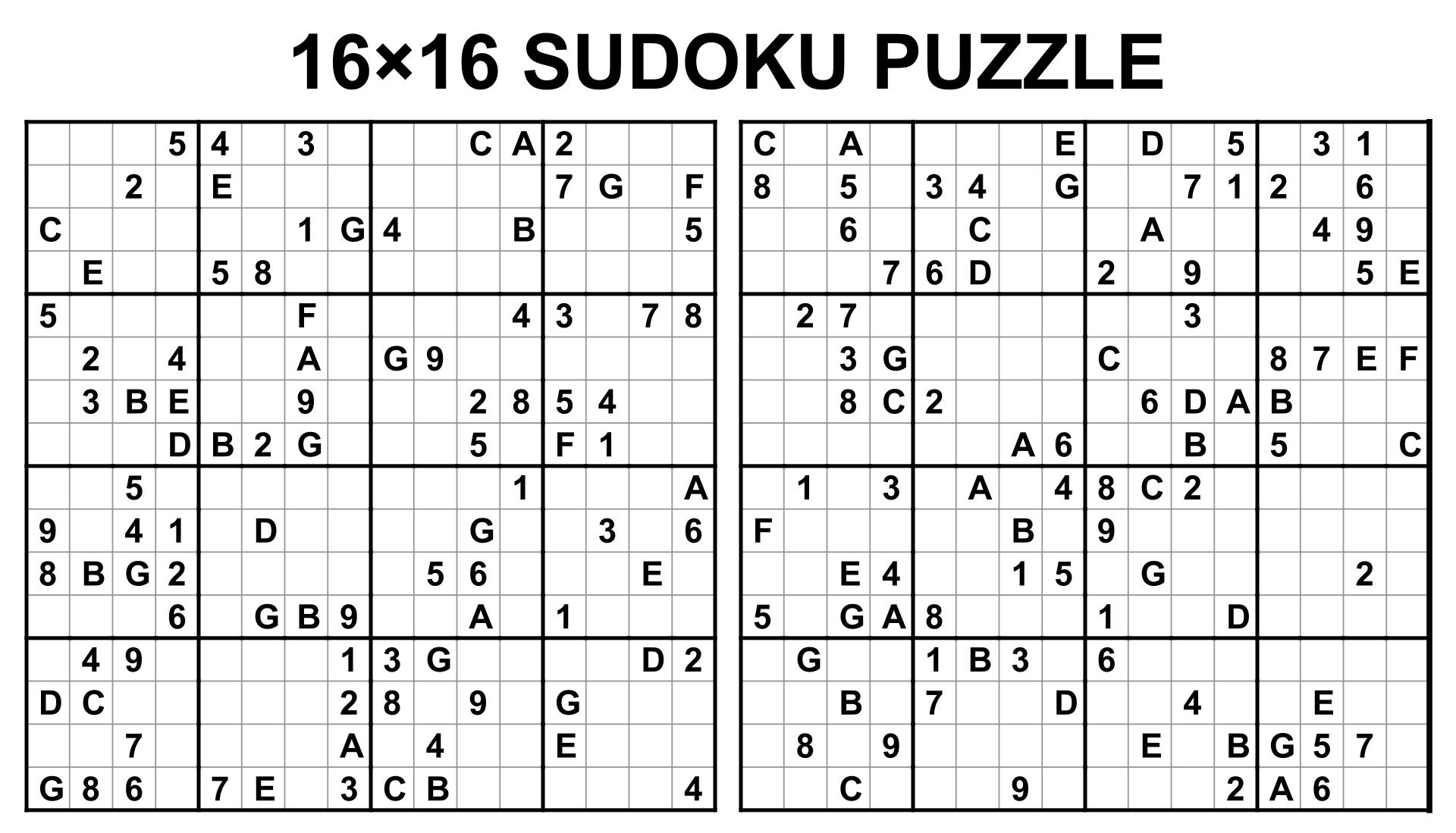 Sudoku 1 6 Printable