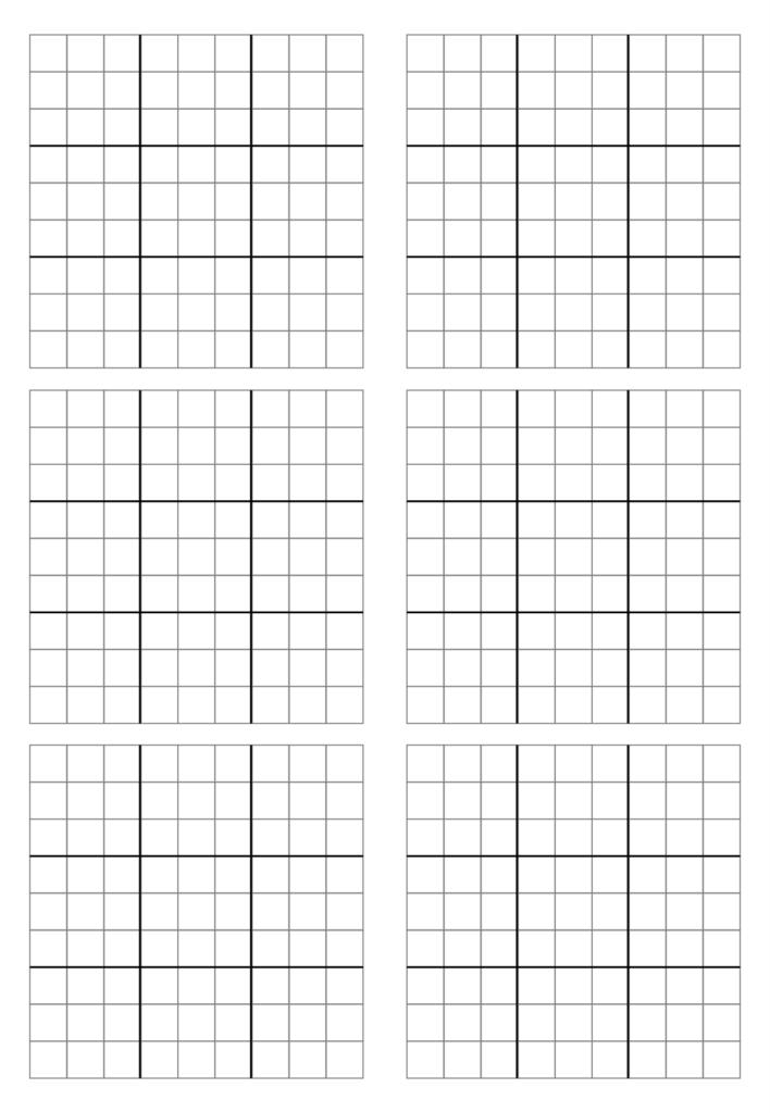 4 Best Printable Blank Sudoku Grid 2 Per Page Printablee