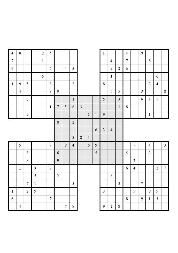 4 Best Printable Samurai Sudoku Grid Printablee