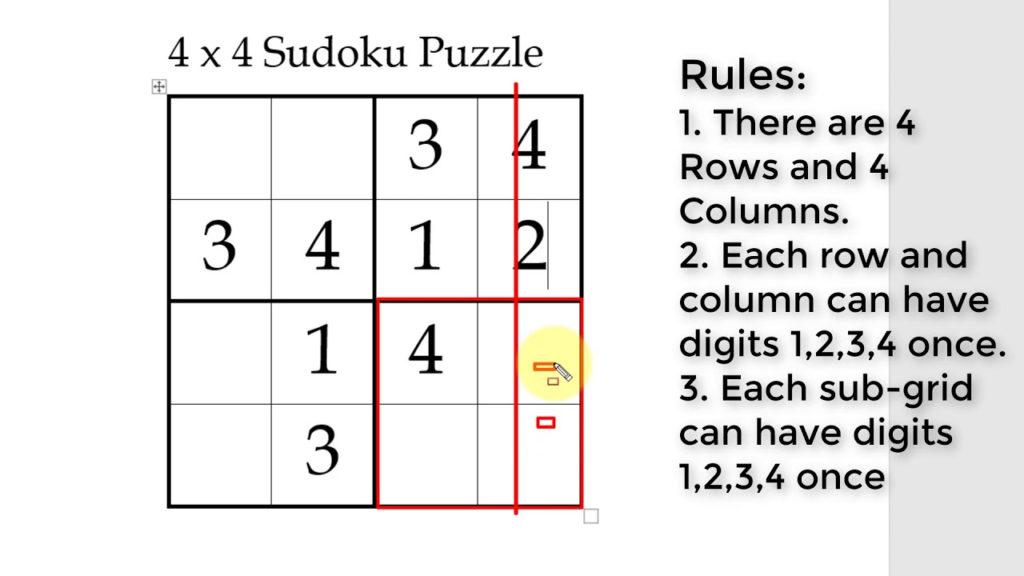 4X4 Sudoku Printable Printable Template Free