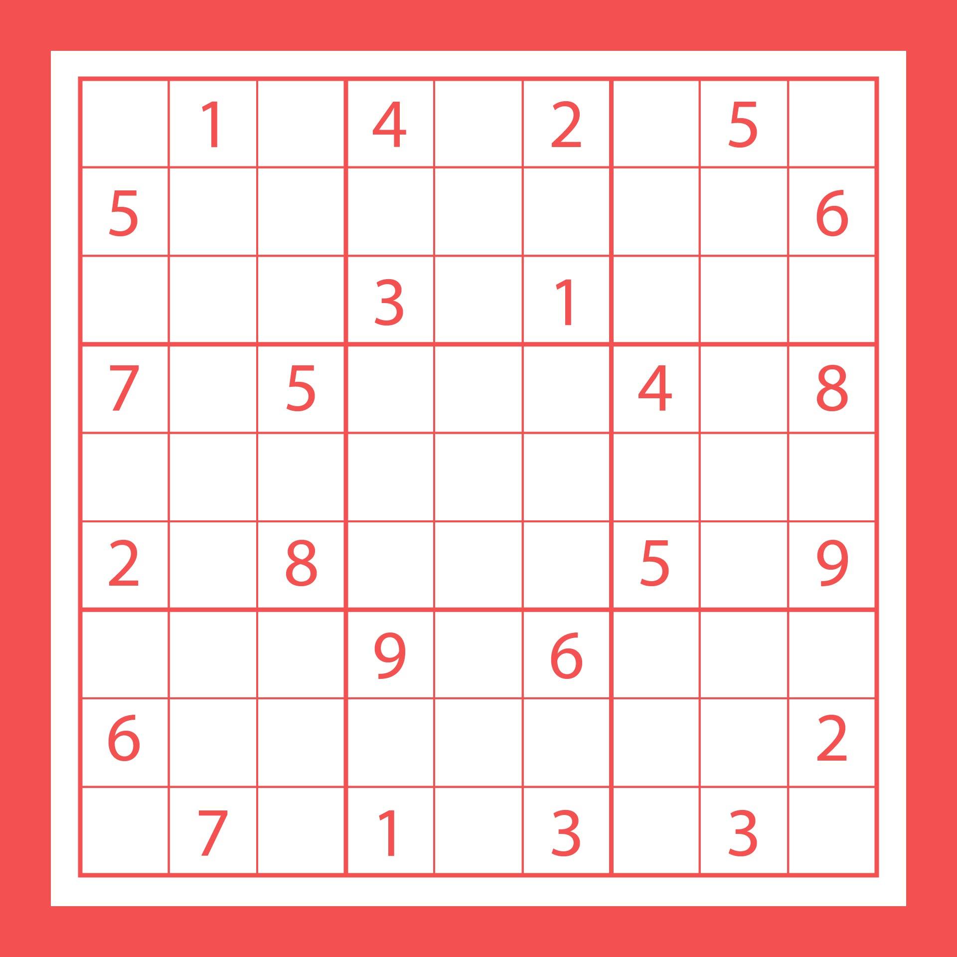Free Printable Sudoku Puzzles Hard