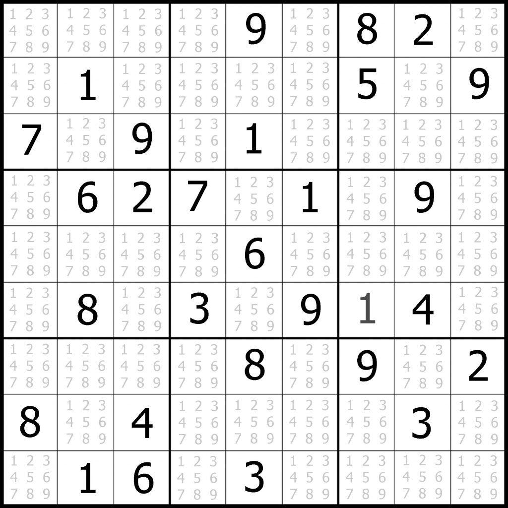 9X9 Sudoku 7 Printable Sudoku Hard Pdf Printable
