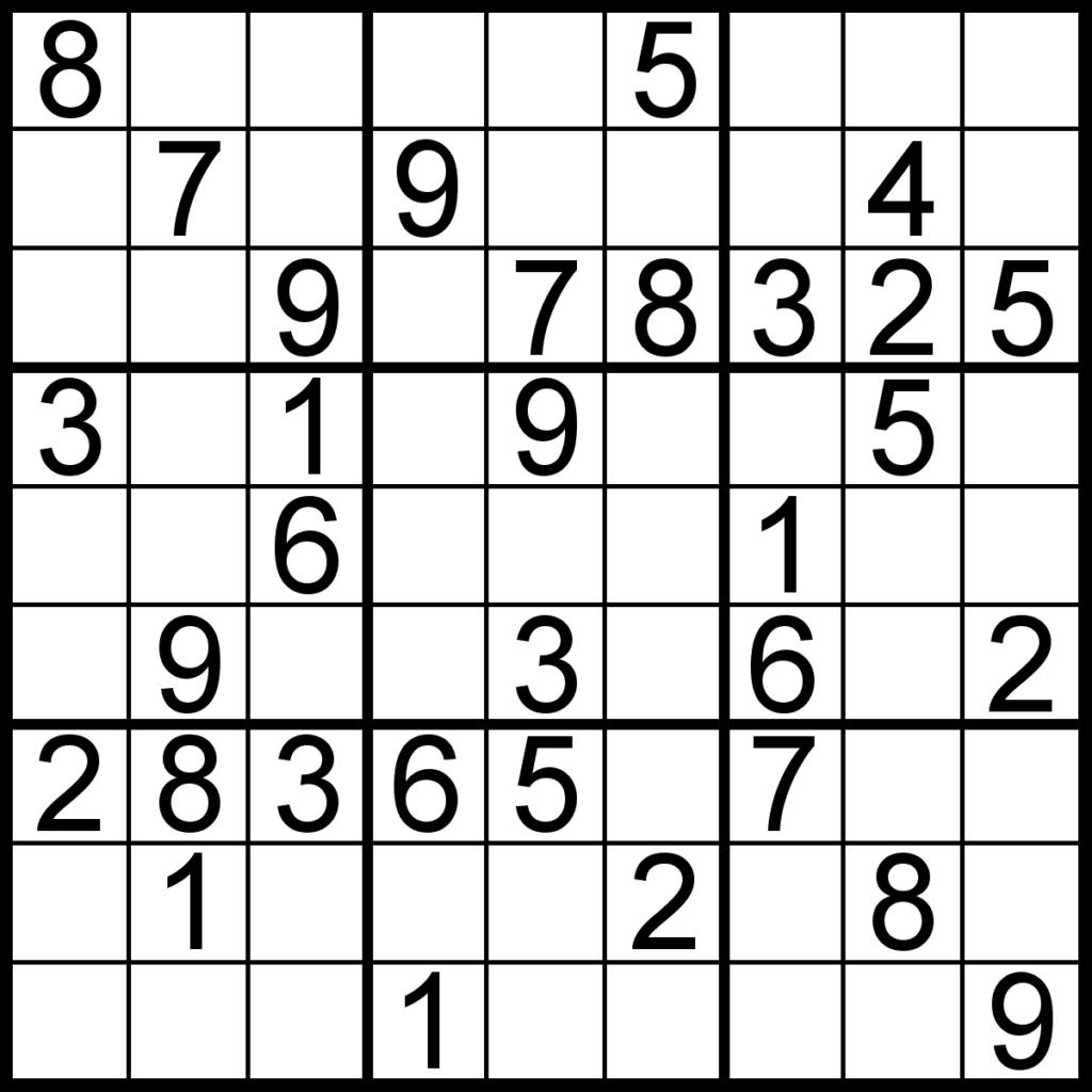 About Printable Sudoku Puzzles Printable Sudoku Puzzle