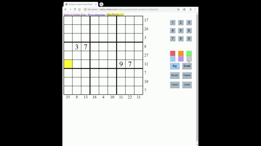 About Sandwich Sudoku Puzzles Sudoku Printable