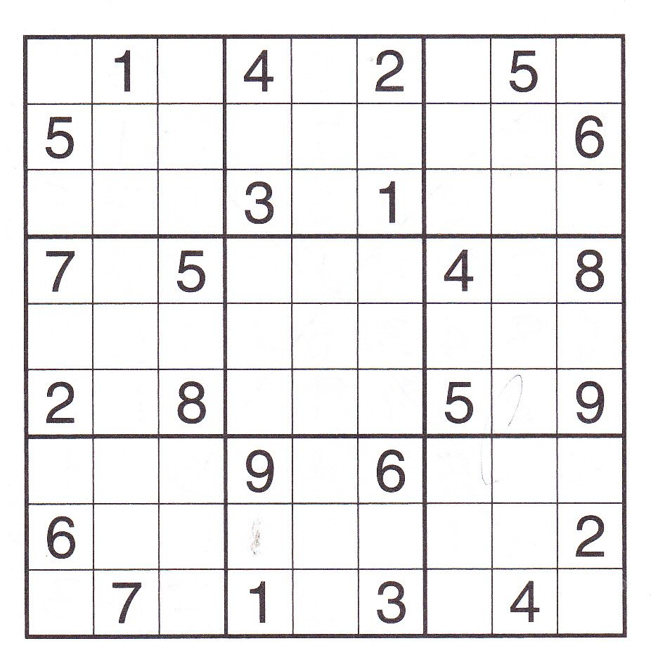 Advanced Sudoku Puzzles Printable