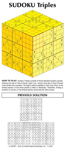 Sudoku Triples Printable