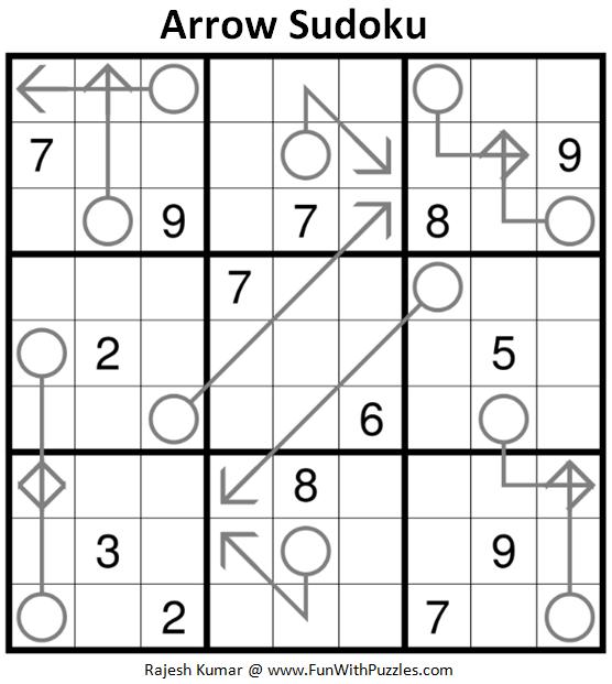 Arrow Sudoku Printable