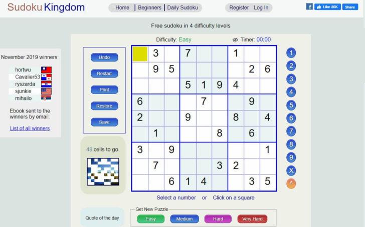 Sudoku Kingdom Printables