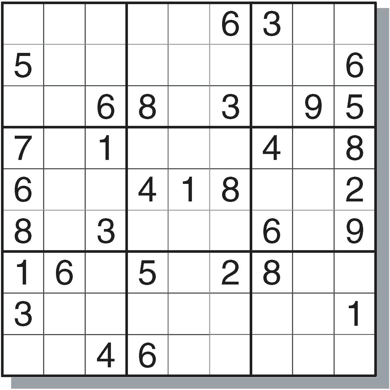 Really Hard Sudoku Printable