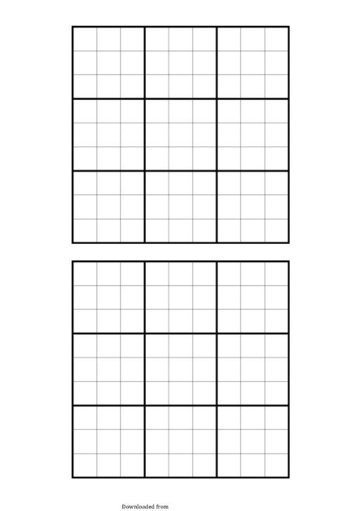 Blank Sudoku Grid PDF Format E Database
