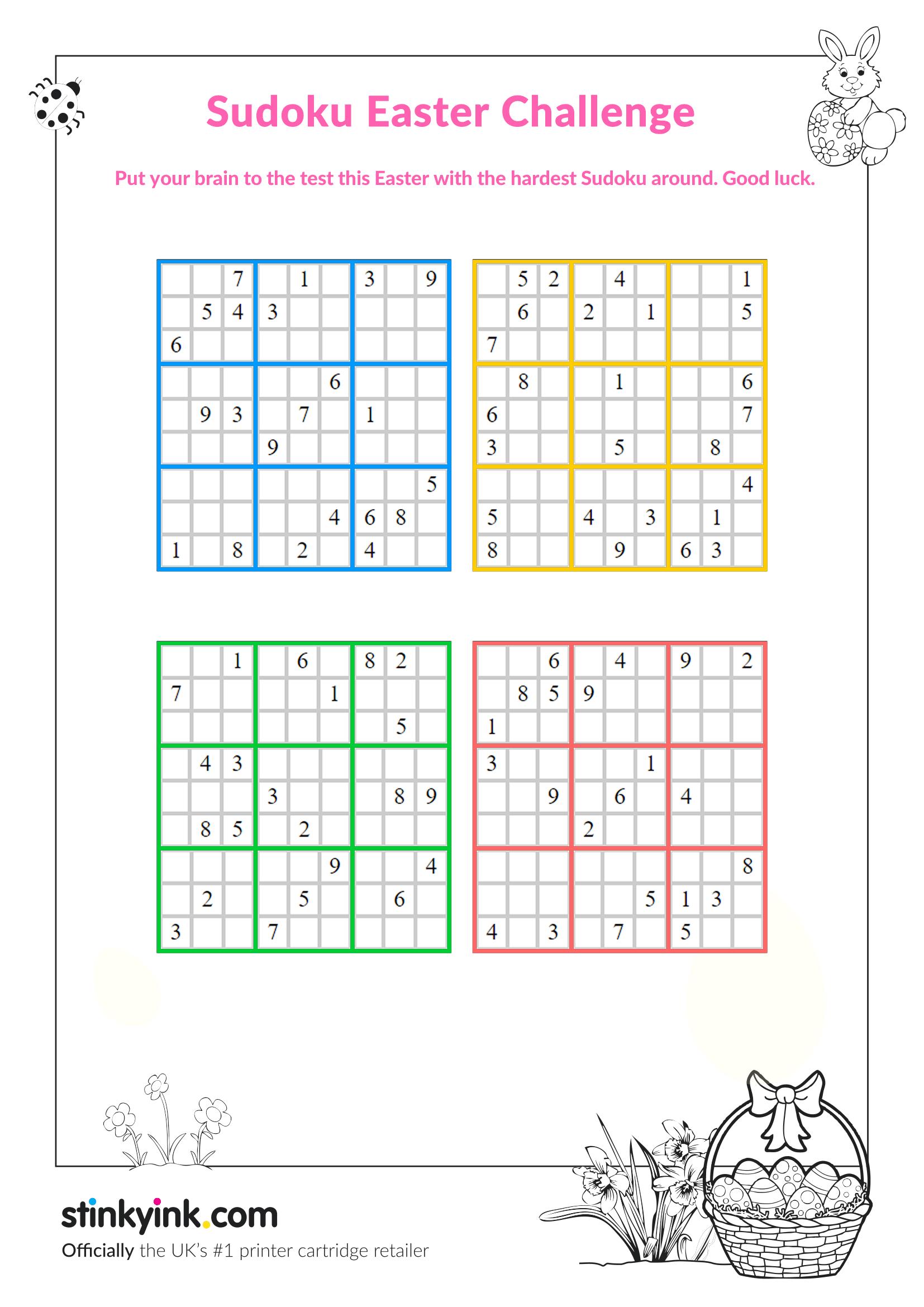Sudoku Splash Zone Printable