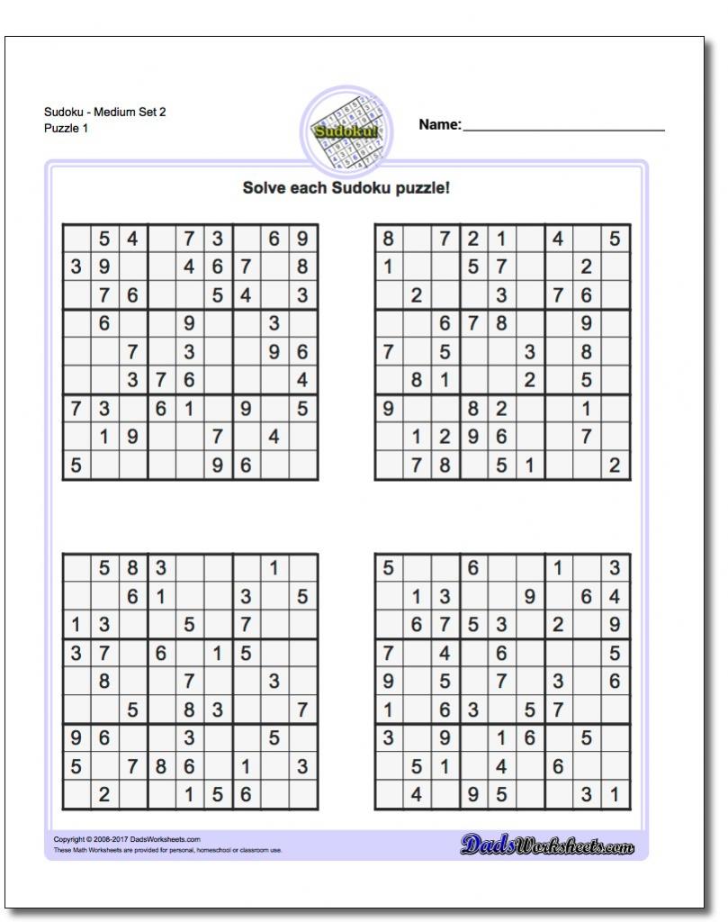 Printable Sudoku 99 Answers