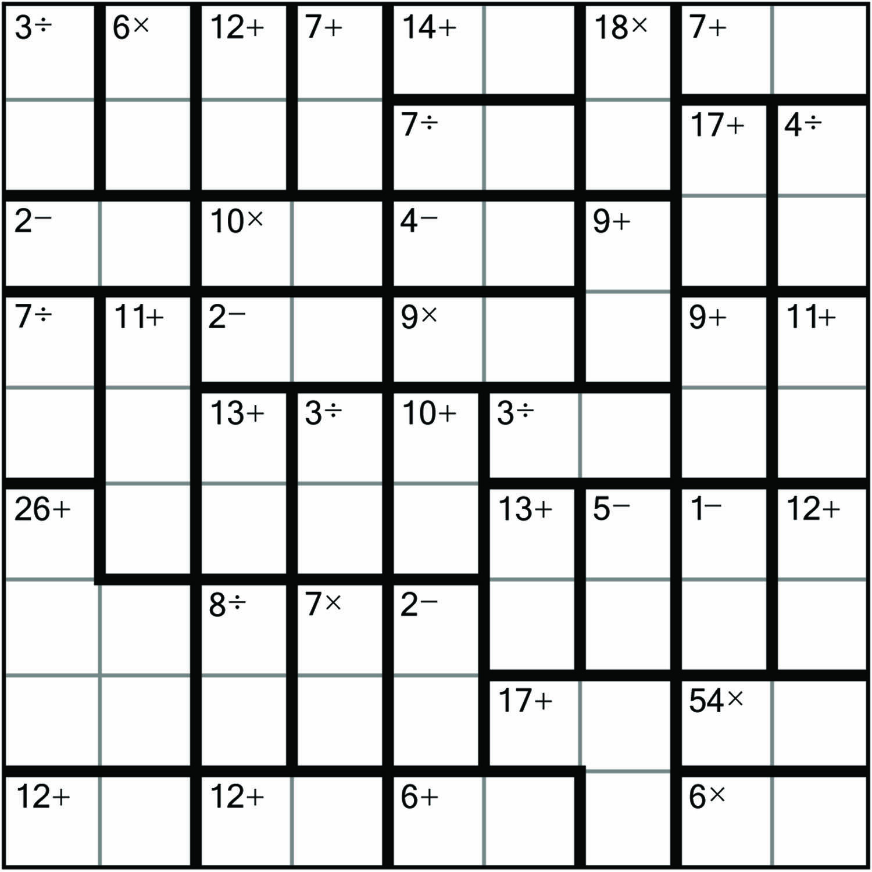 Sudoku Board Printable