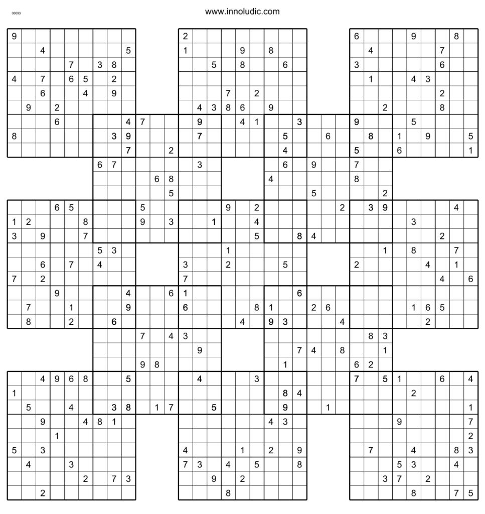 Chain Sudoku Printable Sudoku Printable