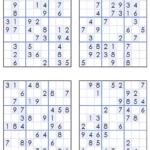 Challenger Sudoku Printable 4 Per Page Roy Blog