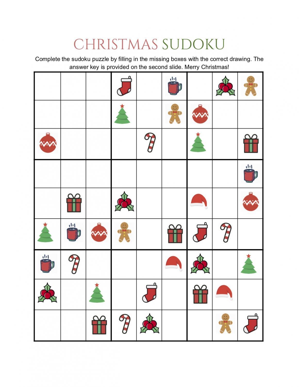 Christmas Sudoku Printable