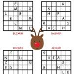 Christmas Sudoku Reindeer Christmas Puzzle Christmas