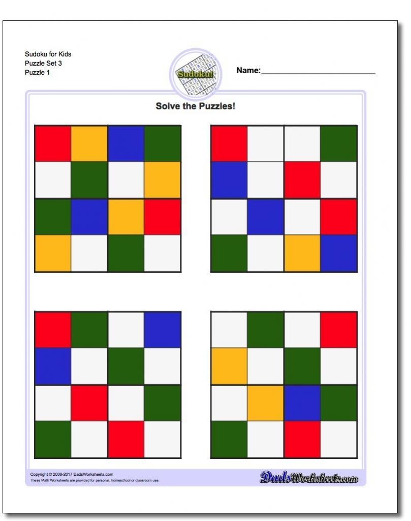 Color Sudoku Printable