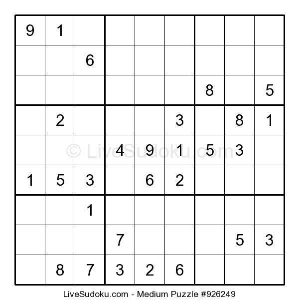 The Printable Sudoku Puzzle Site