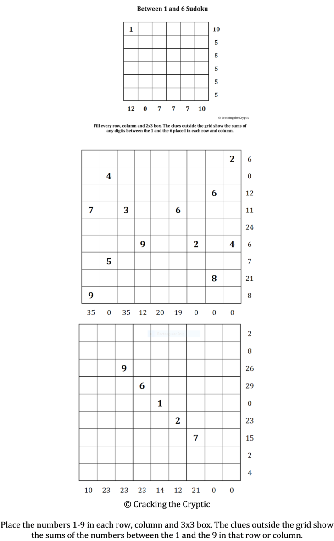Sandwich Sudoku Printable
