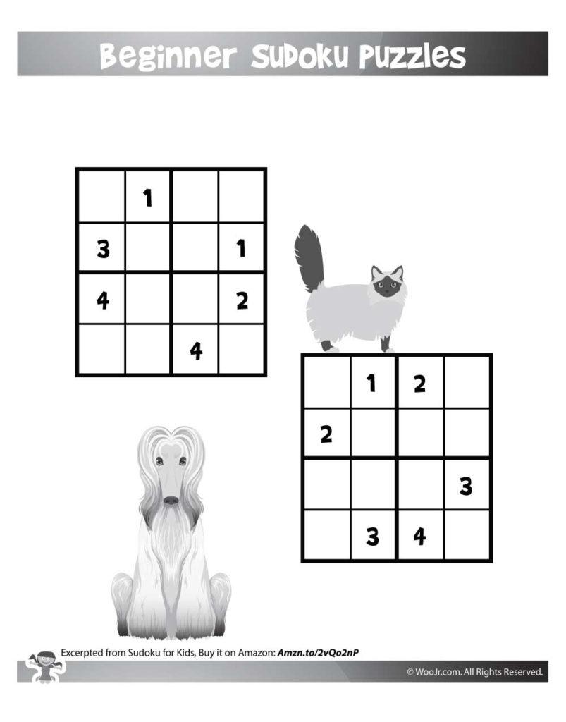 Easy Beginner Sudoku Puzzles For Kids Woo Jr Kids